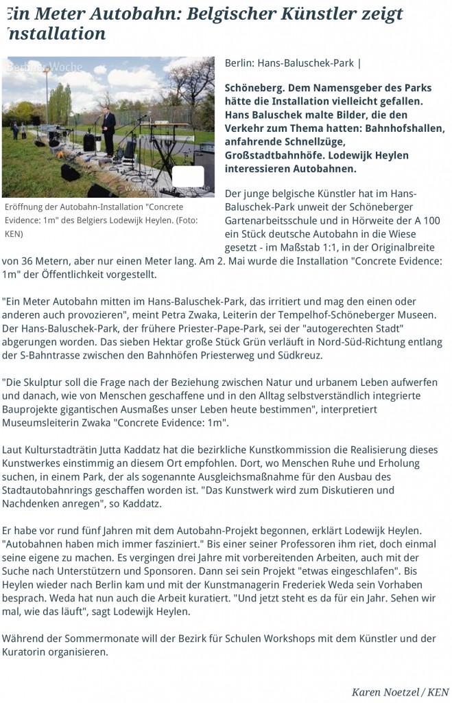 Ein Meter Autobahn_ Belgischer Künstler zeigt Installation - Schöneberg - berliner-woche-1
